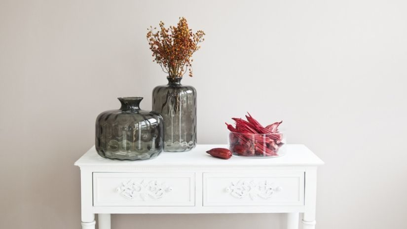 Klasická jesenná dekorácia do vázy