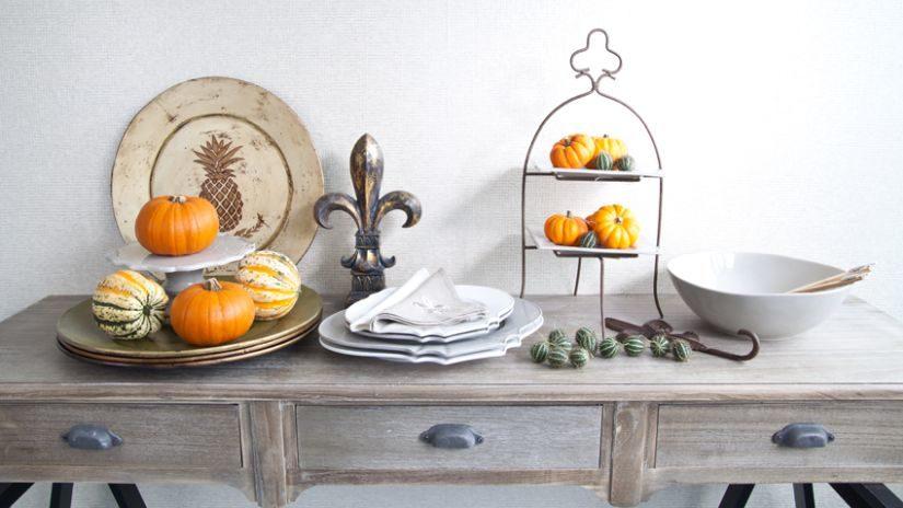 Jesenná dekorácia s motívom tekvice
