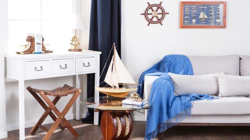 Moderná morská dekorácia do obývačky