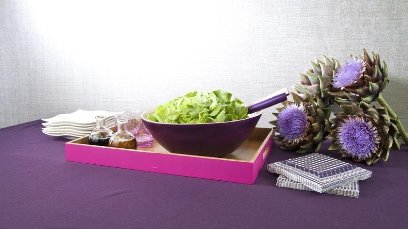 Malá fialová šalátová misa