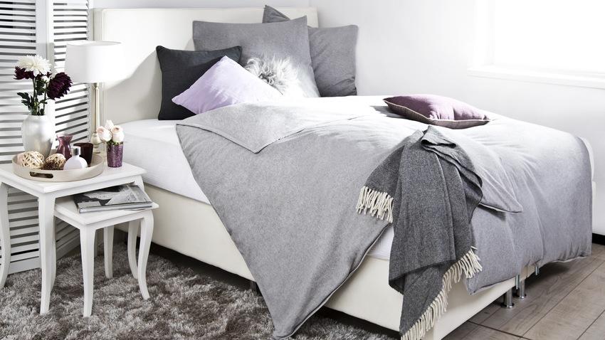 Štýlová vysoká sivá posteľ