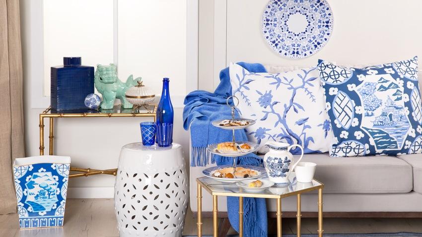 Doplnky do obývačky námornická modrá