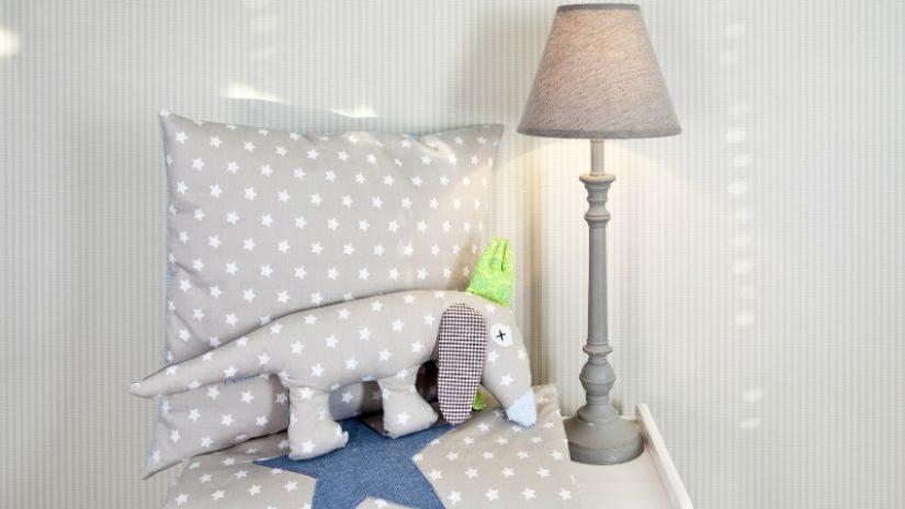 Jemná béžová detská lampa