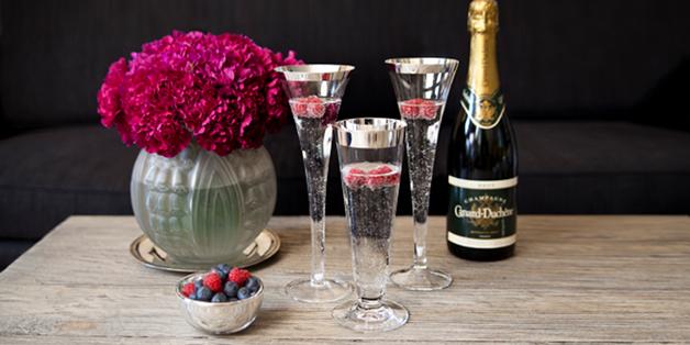 Štýlové poháre na šampanské