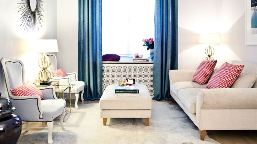 Glamour obývačka v anglickom štýle