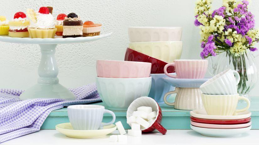 Dekorácia do kuchyne v pastelových farbách