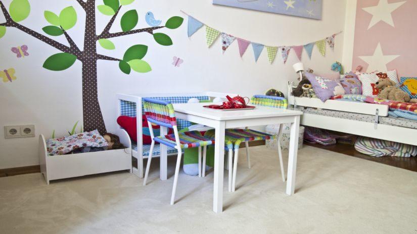 Biely koberec do detskej izby
