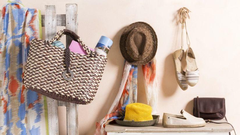 Kvalitná hnedá plážová taška