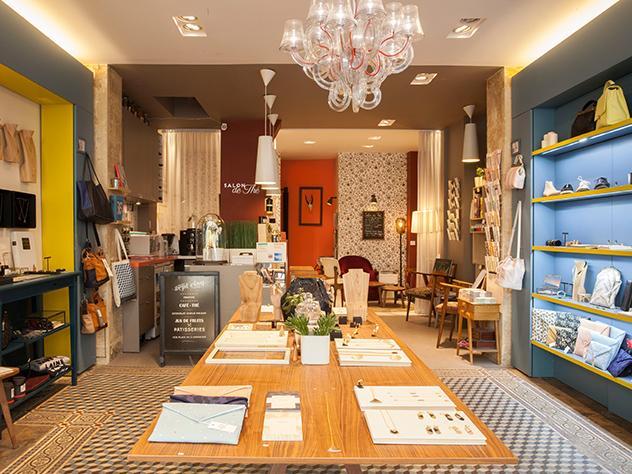 La concept-store Sept Cinq ofrece únicamente productos 100% elaborados en París.