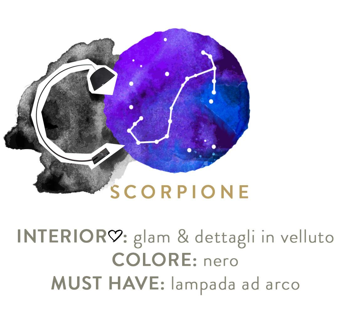 decorare casa secondo lo zodiaco scorpione