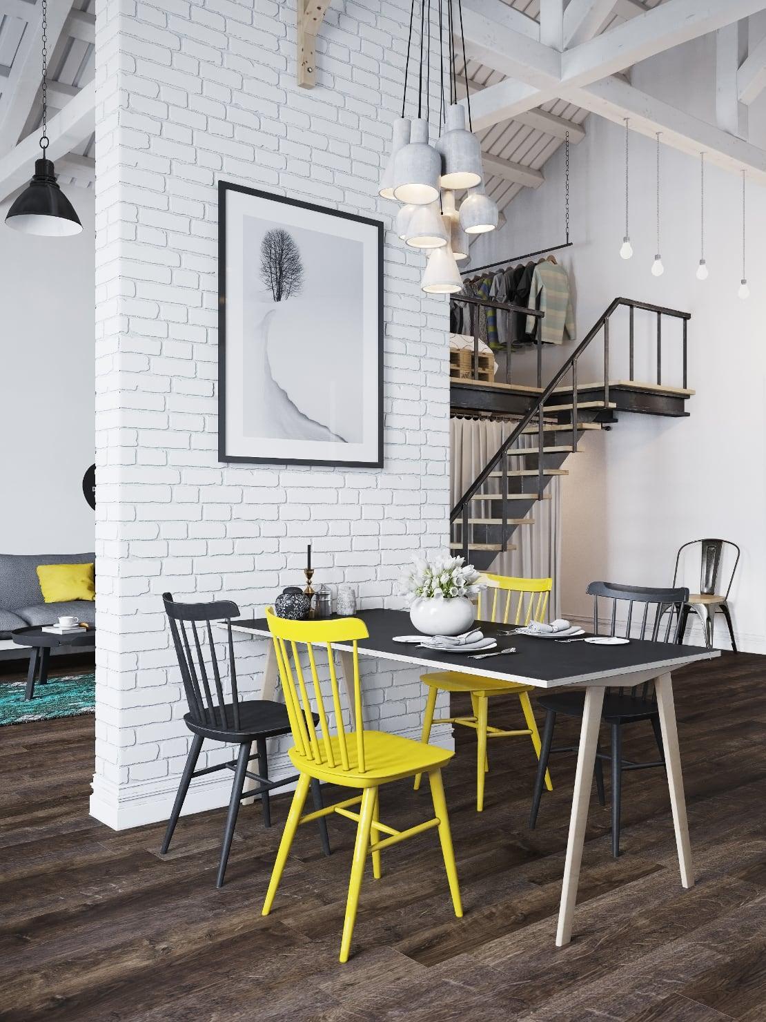 loft-nordico-praga-silla-amarilla