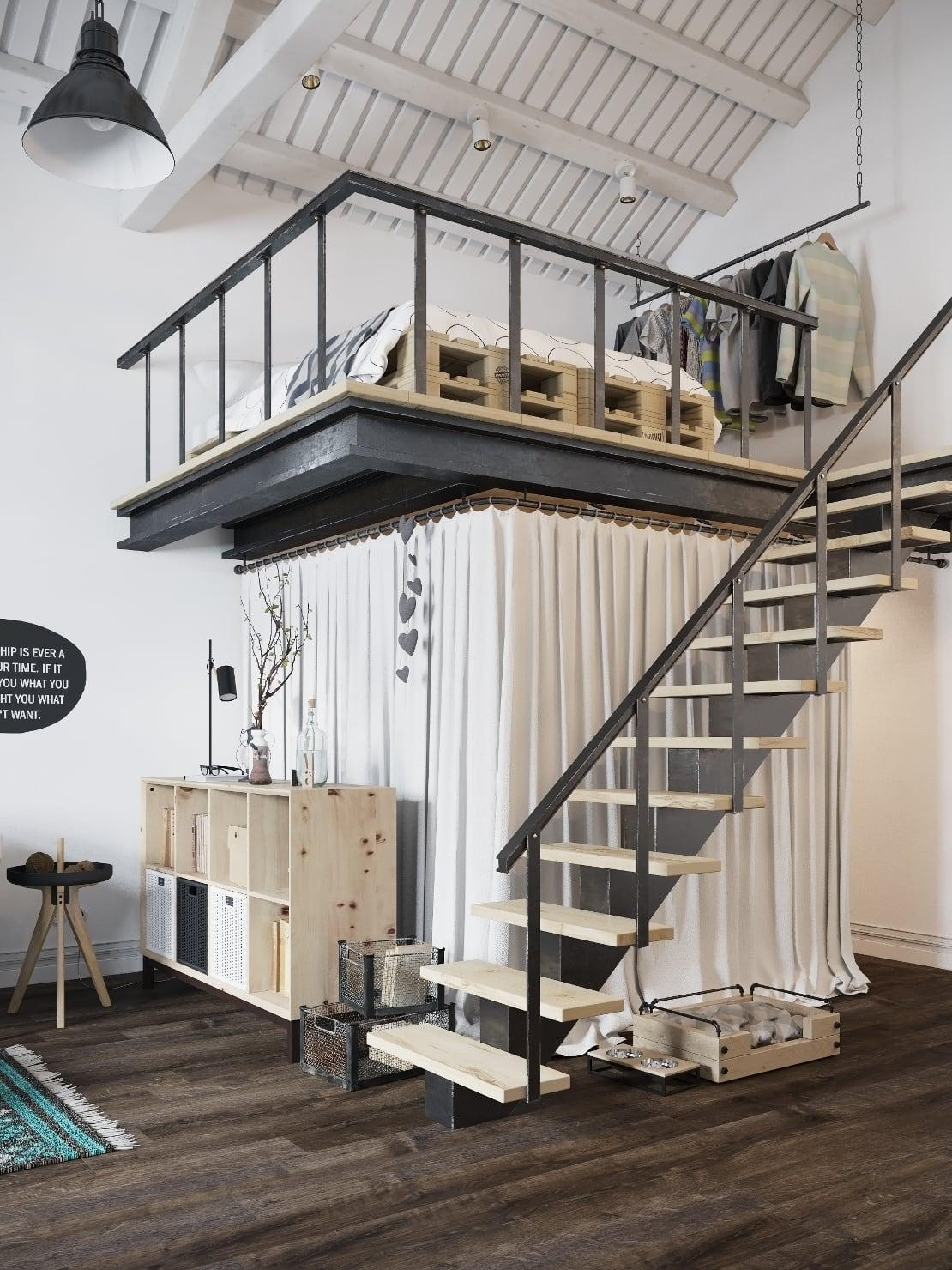 loft-nordico-praga-escalera-altillo