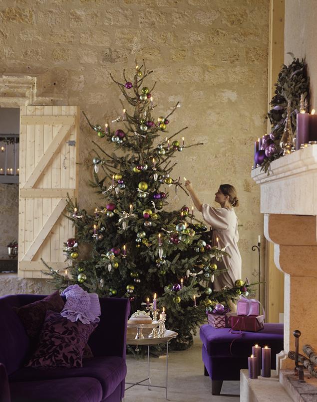 Fioletowe dekoracje świąteczne jak z bajki