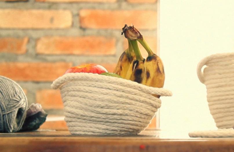 DIY: Jak zrobić koszyk ze sznurka