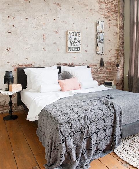 Schlafzimmer mit Loft-Charakter