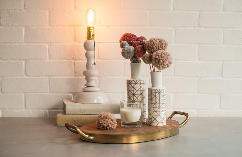 DIY: Pompom bloemen