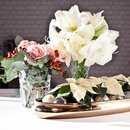 3 zimowe kompozycje kwiatowe