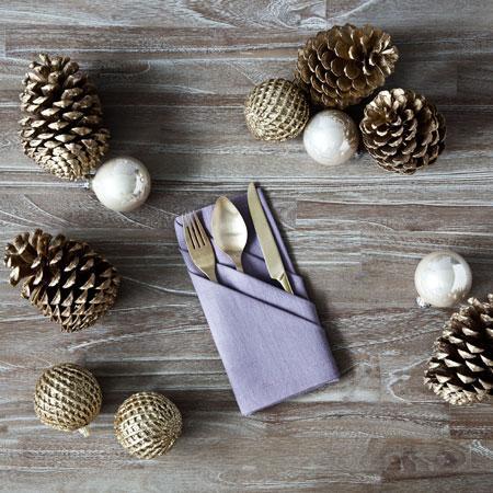 Servietten falten für Weihnachten