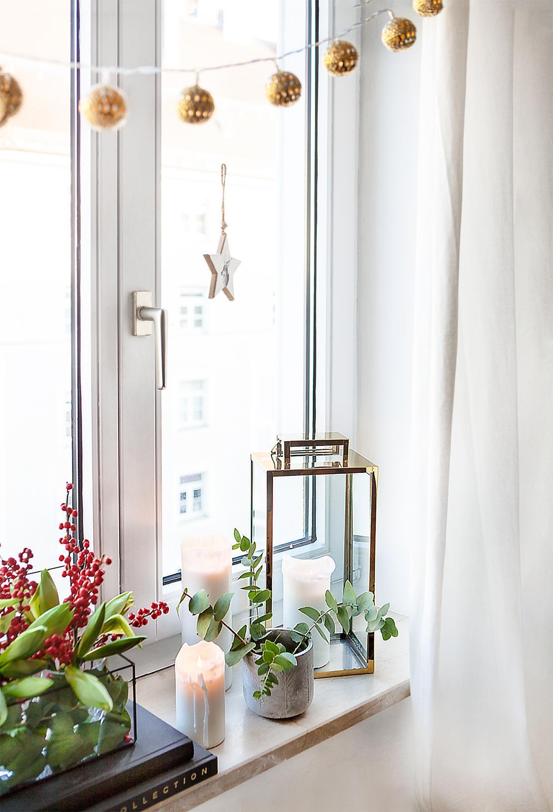Cómo decorar la ventana en Navidad