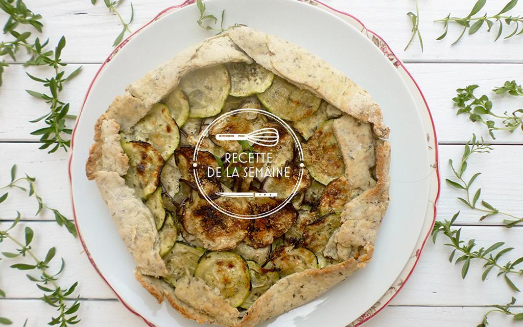 Tarte aux légumes d'été et herbes fraîches par le blog Amande et Basilic