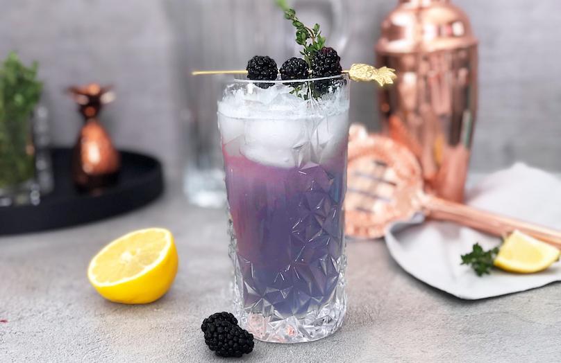 Przepis na... Blackberry Gin Fizz