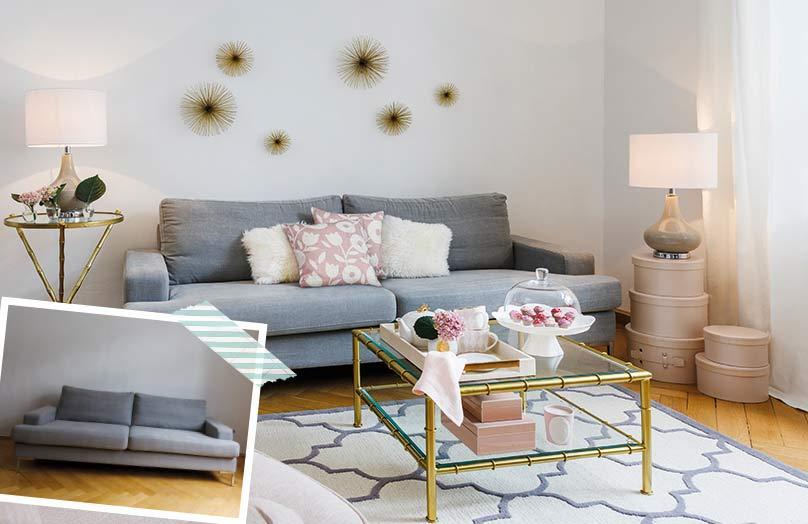 Un sofá, cuatro estilos