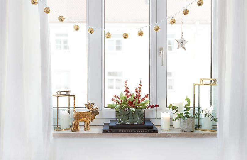 Kreative Weihnachtsdeko für's Fensterbrett