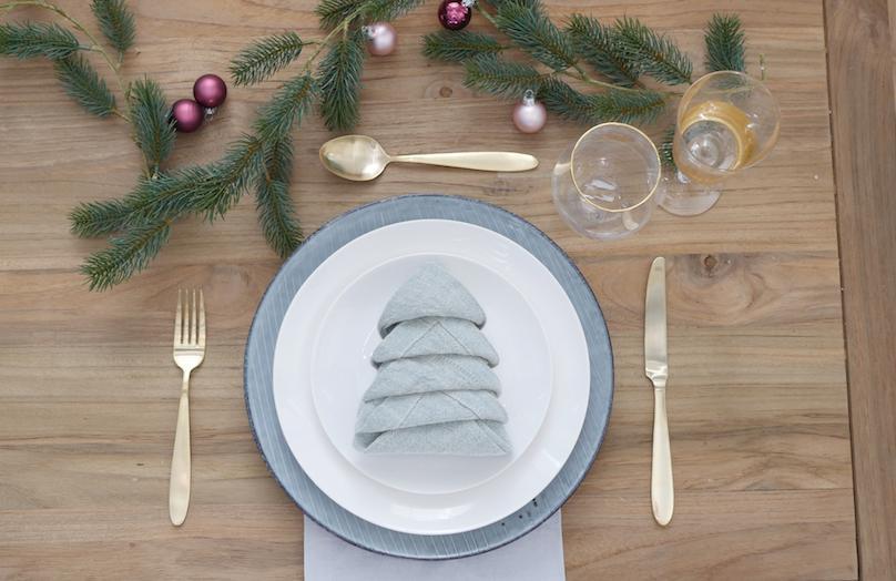 Mesa de Navidad: una forma original de doblar las servilletas
