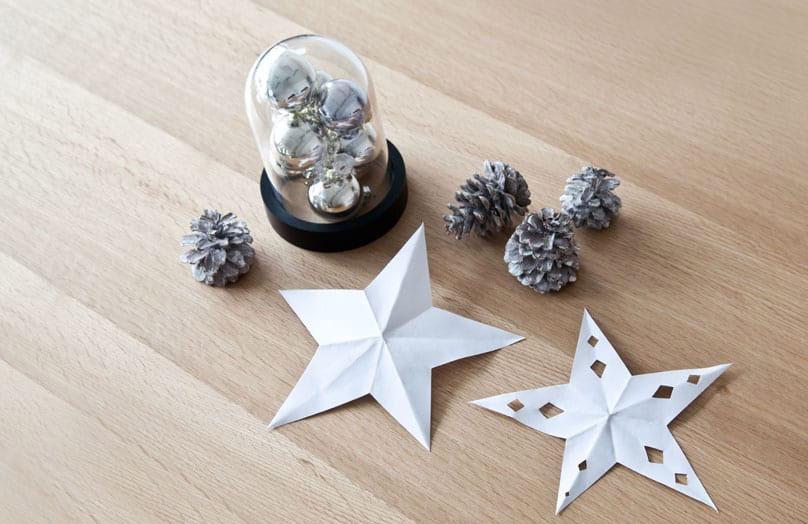 DIY pour enfants - Des étoiles de Noël en papier