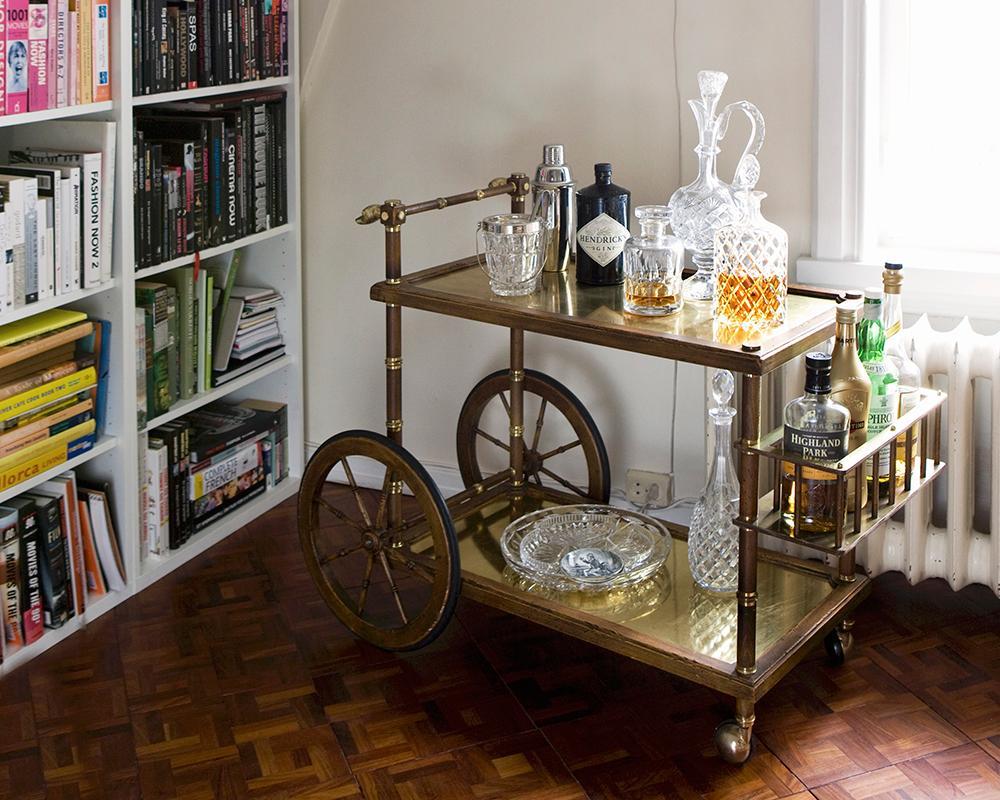 Carrello-bar, Arredamento, Casa, Cocktail, Stile, Vintage