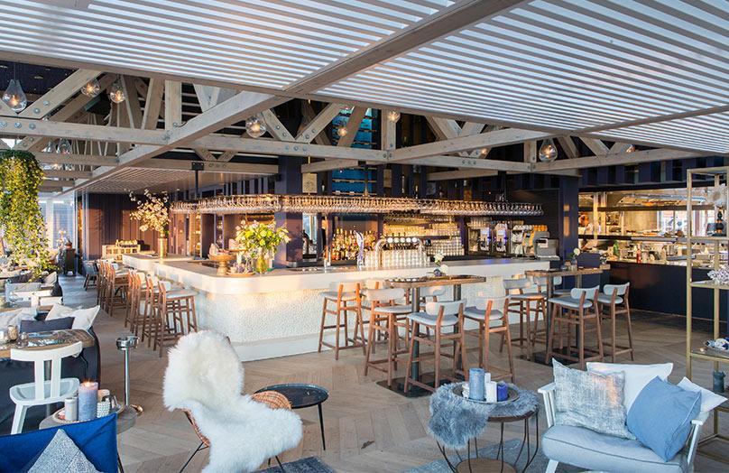 De bijzondere look van strandrestaurant De Waterreus