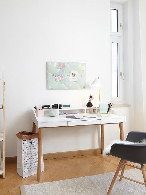 Moodboard w domowym biurze