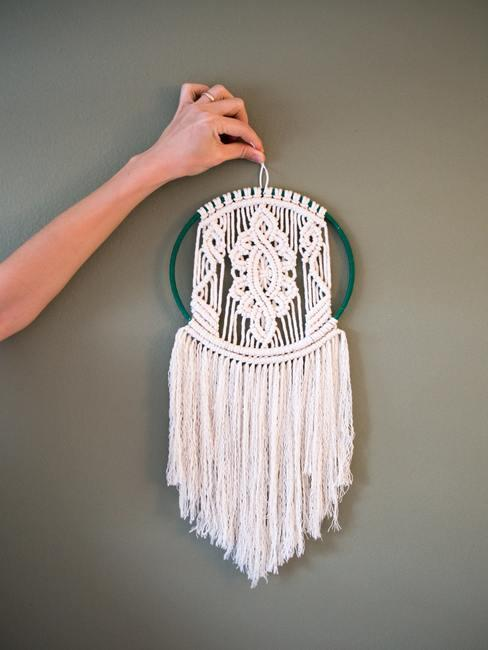 Decoración de pared macramé