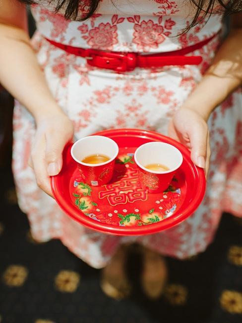Teezeremonie japanische Tassen