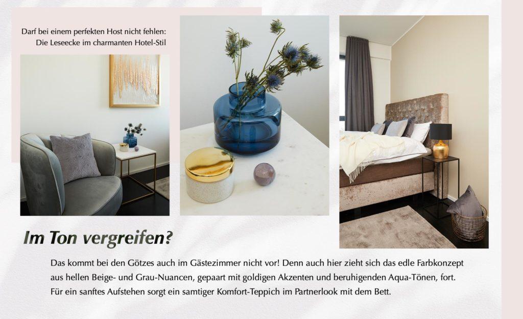 Ann-Kathrin Götze Gästezimmer Farbkonzept Greige Deko