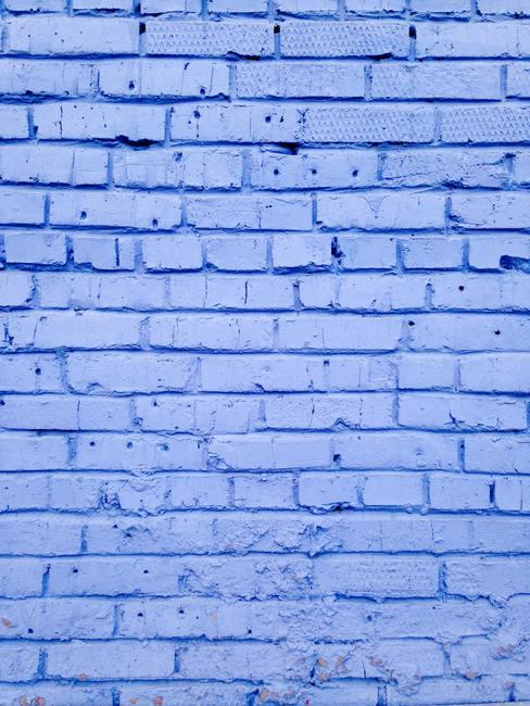 Pared de ladrillo azul