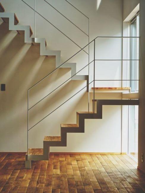 scala per interni in legno minimal