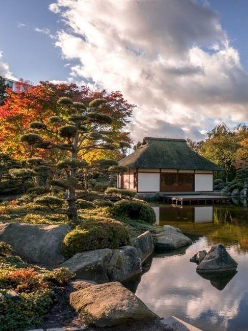 giardino roccioso di ispirazione giapponese