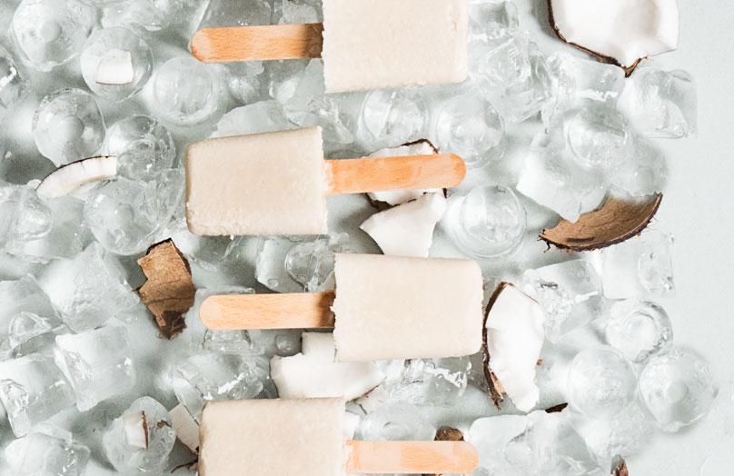Kokosnuss-Rum-Eis