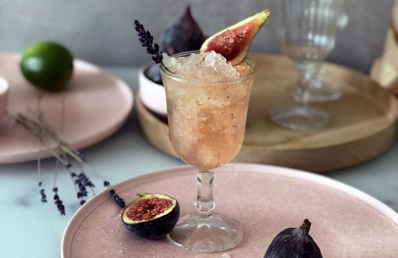 Spritz aux figues et à la lavande