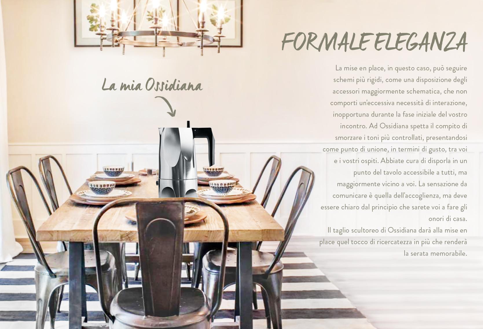 Alessi, Ossidiana, Moka, Design, Caffè, Mise en place