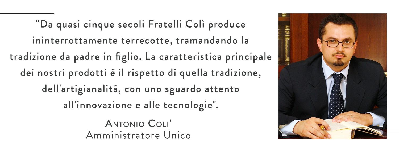 Fratelli Colì, Terracotta, Mise en place, Decorazioni, Made in Italy