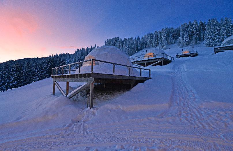 Whitepod hotel in de Zwitserse Alpen