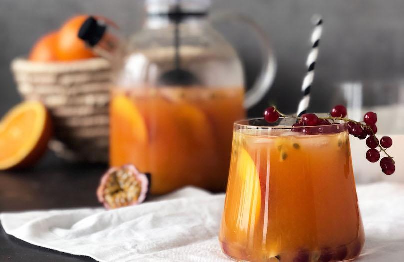 DIY Owocowa mrożona herbata