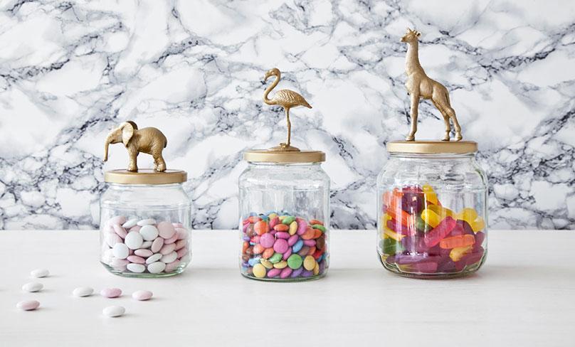 DIY Weckgläser mit goldenen Tieren