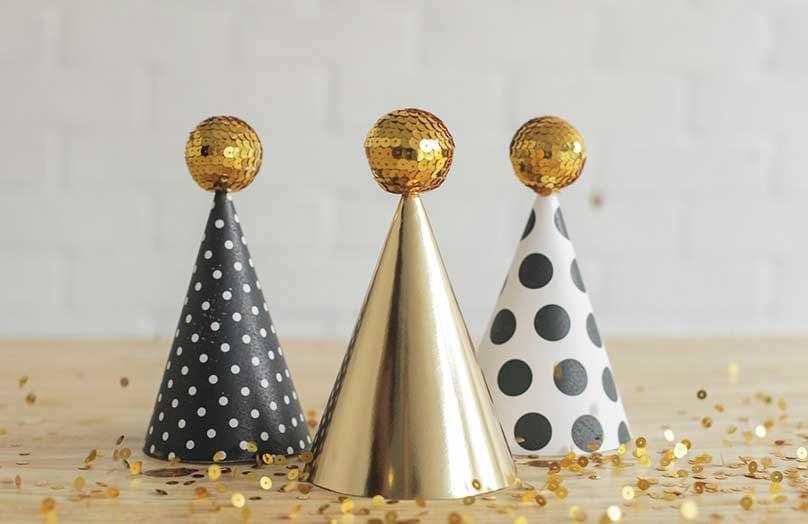 Glamour-Deko für die Silvesterparty