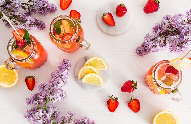Selbstgemachte Erdbeerlimonade