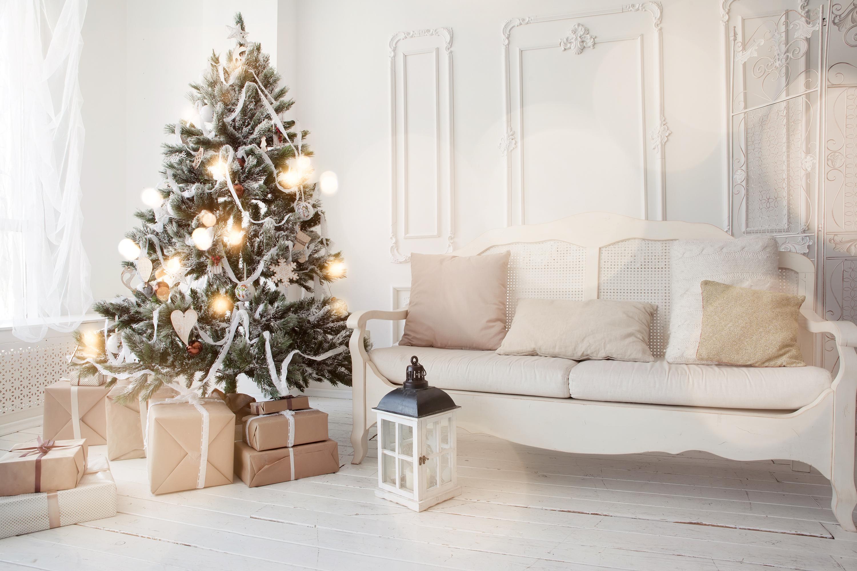 luces navidad y árbol