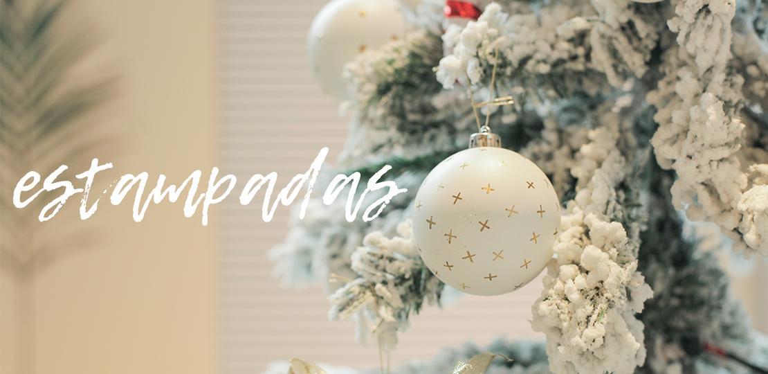 Ideas para decorar las bolas de Navidad estampadas