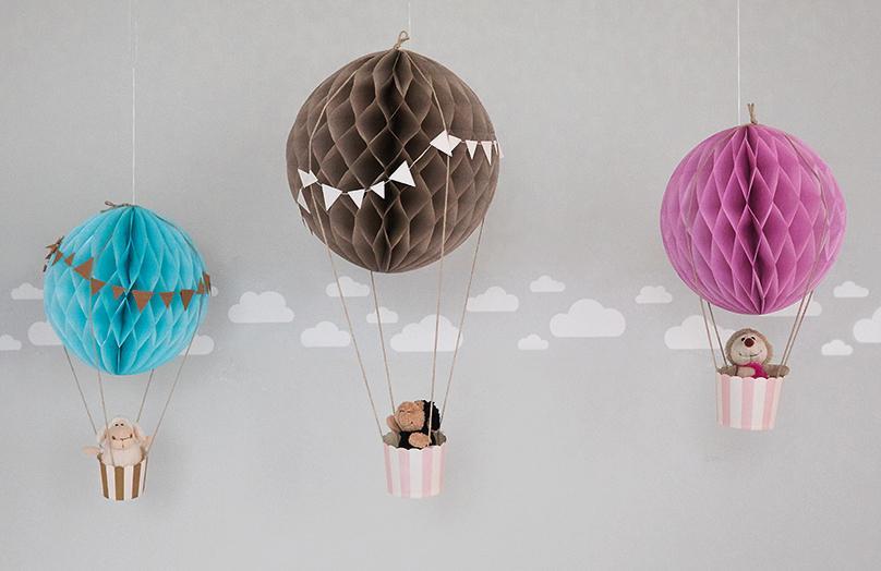 Globos aerostáticos de papel